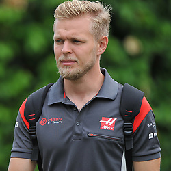 Kevin Magnussen, Haas F1 Team.<br /> Day 3 of the 2017 Formula 1 Singapore airlines, Singapore Grand Prix, held at The Marina Bay street circuit, Singapore on the 16th September 2017.<br /> Wayne Neal | SportPix.org.uk