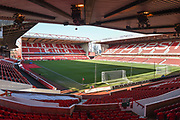 General view of the City Ground during the The FA Cup 3rd round match between Nottingham Forest and Arsenal at the City Ground, Nottingham, England on 7 January 2018. Photo by Jon Hobley.