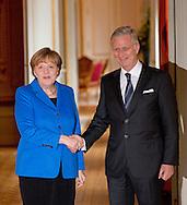 Brussels, 04-03-2015<br /> <br /> <br /> King Phillipe met Bundes Chancellor Angela Merkel of Germany.<br /> <br /> Photo: Bernard Ruebsamen/Royalportraits Europe