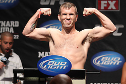 Atlantic City, NJ - June 21, 2012: Spencer Fisher at the weigh-ins for UFC on FX 4 at Ovation Hall at Revel Resort & Casino in Atlantic City, New Jersey.