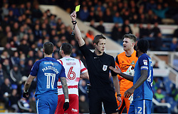 Marcus Maddison of Peterborough United is shown a yellow card by the match official for an apparent dive - Mandatory by-line: Joe Dent/JMP - 01/01/2018 - FOOTBALL - ABAX Stadium - Peterborough, England - Peterborough United v Doncaster Rovers - Sky Bet League One