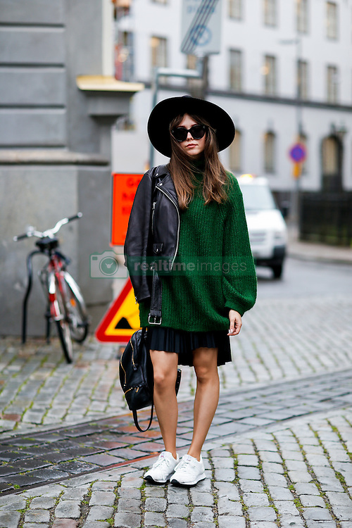 Street style, arriving at By Malina Spring Summer 2017 show held at Berns Hotel Berzelii Park, in Stockholm, Sweden, on August 29, 2016. Photo by Marie-Paola Bertrand-Hillion/ABACAPRESS.COM