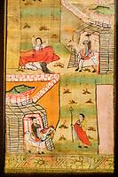 France, Paris (75), Musée Guimet, les quatre rencontres du Bodhisattva, Chine, Gansu, Dunhuang, grottes de Mogao, 10e siecle // France, Paris, Guimet museum, the four meetings of the Bodhisattva, China, Gansu, Dunhuang, caves of Mogao, 10th century