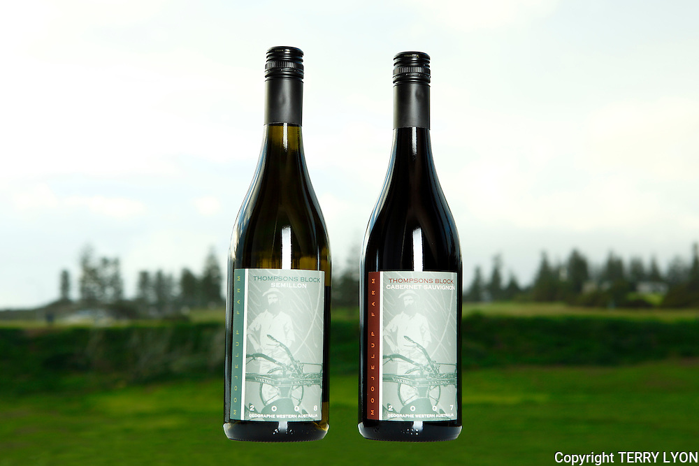 Product photographs for Thompsons Block Wines.
