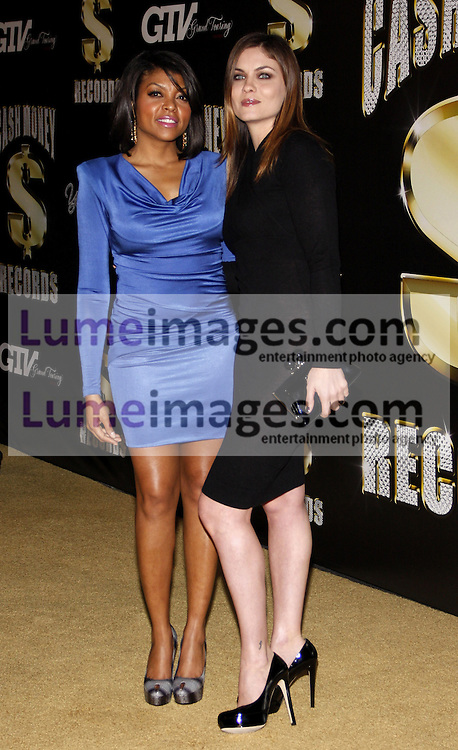 Taraji P. Henson and Jodi Lyn O'Keefe at the 3rd Annual Cash Money Records Pre-Grammy Awards Party held at the Paramount Studios in Hollywood on February 11, 2012.