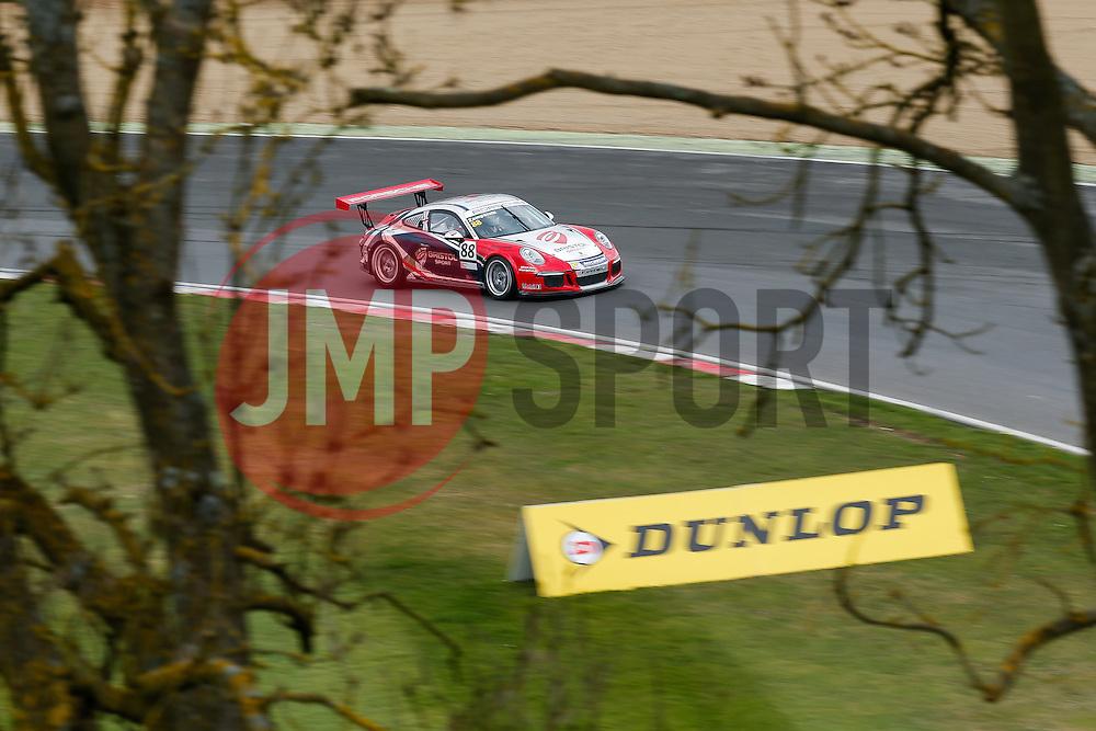 Dino Zamparelli   Bristol Sport Racing   #88 Porsche 911 GT3 Cup - Photo mandatory by-line: Rogan Thomson/JMP - 07966 386802 - 04/04/2015 - SPORT - MOTORSPORT - Fawkham, England - Brands Hatch Circuit - British Touring Car Championship Meeting.