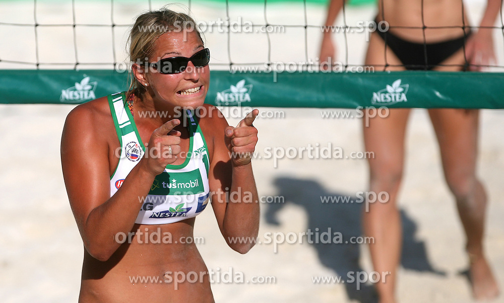 Erika Fabjan (Champion Team) at qualifications for 14th National Championship of Slovenia in Beach Volleyball and also 4th tournament of series TUSMOBIL LG presented by Nestea, on July 25, 2008, in Kranj, Slovenija. (Photo by Vid Ponikvar / Sportal Images)/ Sportida)