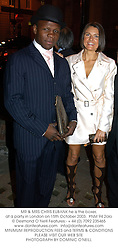MR & MRS CHRIS EUBANK he is the boxer, at a party in London on 15th October 2003.PNM 94 2olo