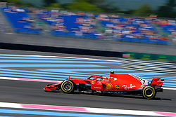 June 22, 2018 - Le Castellet, Var, France - Ferrari 7 Driver KIMI RAIKKONEN (FIN) in action during the Formula one French Grand Prix at the Paul Ricard circuit at Le Castellet - France (Credit Image: © Pierre Stevenin via ZUMA Wire)