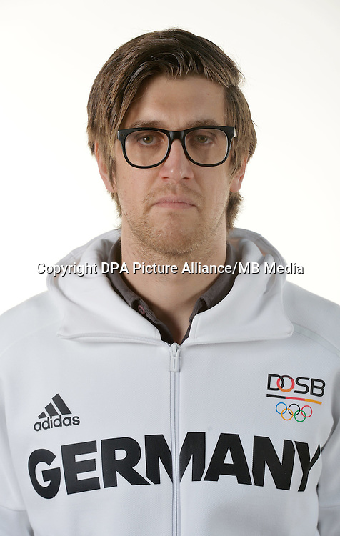Jens Behler poses at a photocall during the preparations for the Olympic Games in Rio at the Emmich Cambrai Barracks in Hanover, Germany. July 07, 2016. Photo credit: Frank May/ picture alliance. | usage worldwide