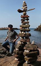 European Stone Stacking 2019, Dunbar, 21 April 2019