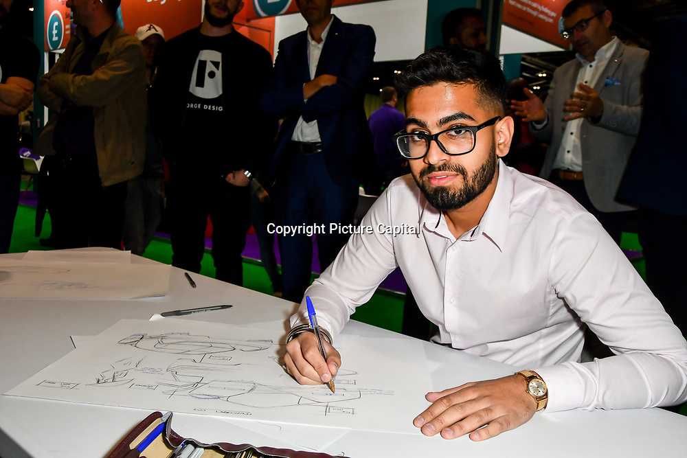 Drivetribe team - Sketch off competition at the London Motor & Tech Show‎ opening day on 16 May 2019, at Excel London, UK.