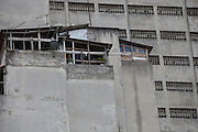 Temporary housing on the top of a tower block is home to immigrants in São Paulo, Brazil.<br /> <br /> Behind stands a tower block which is home to over 2,000 Immigrants.