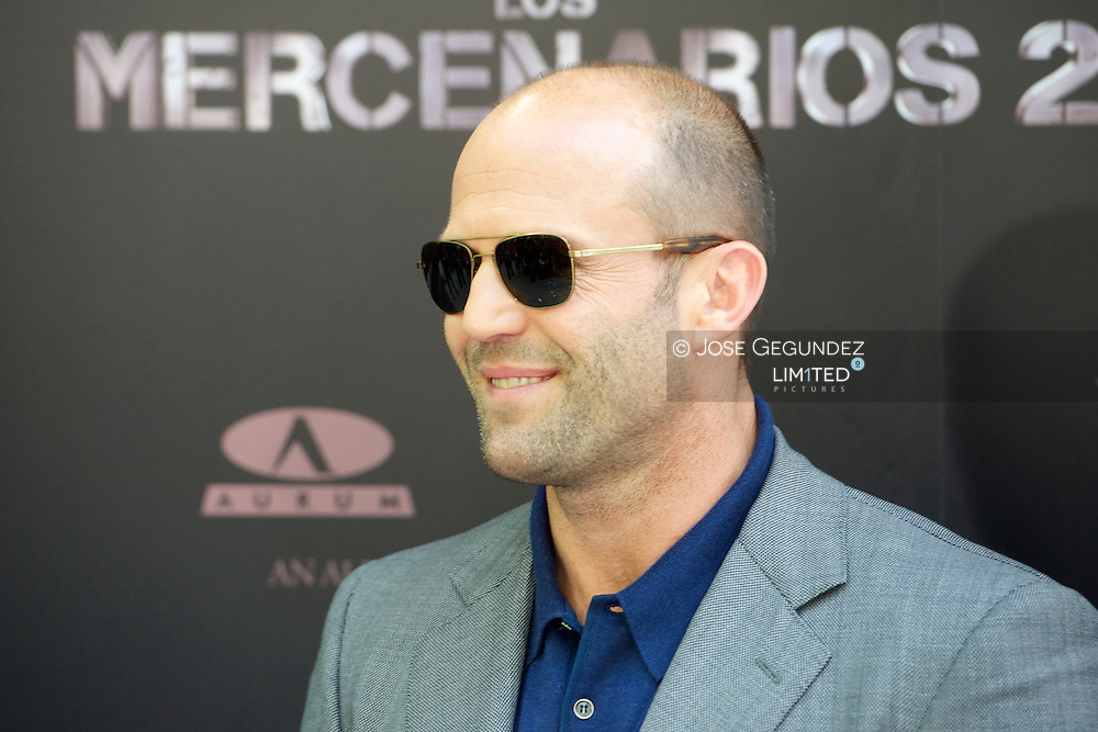 British Actor Jason Statham attends the photocall of 'The Expendables 2' at Ritz Hotel in Madrid