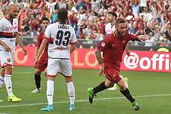 AS Roma vs Genoa as part of the Calcio Football Series held at the Stadio Olimpico in Rome, Italy. 28 May 2017 Pictured: Esultanza Gol Daniele De Rossi Roma Goal celebration. Photo credit: Insidefoto / MEGA TheMegaAgency.com +1 888 505 6342