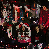 A float participates in the 12th Annual Wilmington Holiday Parade Sunday December 7, 2014 in Wilmington, N.C. (Jason A. Frizzelle)