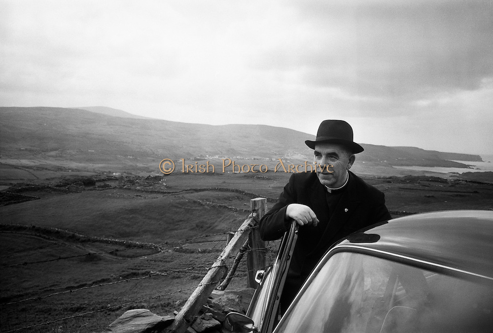 Fr James McDyer, curate of Glencolumcille, Co Donegal became a byword for rural regeneration through his activities in the small parish to which he was appointed in 1951. He succeeded in building a community centre, bringing electricity to the area, and establishing a Folk Village and Museum, which still thrive..06.07.1965