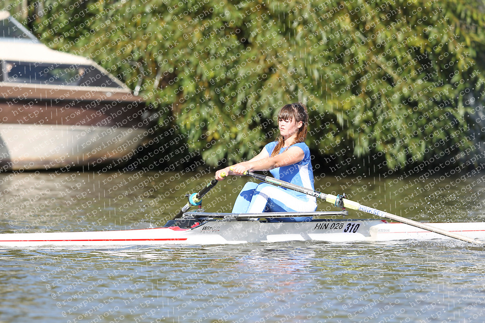 29.09.2012. Wallingford Long Distance Sculls 2012, The River Thames. Division 1. W.J15A 1x. Hinksey Sculling School.