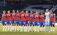 16 October 2014: Costa Rica's starters. From left: Wendy Acosta (CRC), Carolina Venegas (CRC), Carol Sanchez (CRC), Raquel Rodriguez Cedeno (CRC), Cristin Granaldos (CRC), Melissa Herrera (CRC), Daniela Cruz (CRC), Lixy Rodriguez (CRC), Diana Saenz (CRC), Dinnia Diaz (CRC), and Shirley Cruz (CRC). The Mexico Women's National Team played the Costa Rica Women's National Team at Sporting Park in Kansas City, Kansas in a 2014 CONCACAF Women's Championship Group B game, which serves as a qualifying tournament for the 2015 FIFA Women's World Cup in Canada. Costa Rica won the game 1-0.