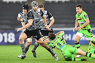 Ospreys' Scott Otten evades the tackle of Northampton Saints' Nic Groom<br /> <br /> Photographer Craig Thomas/Replay Images<br /> <br /> EPCR Champions Cup Round 4 - Ospreys v Northampton Saints - Sunday 17th December 2017 - Parc y Scarlets - Llanelli<br /> <br /> World Copyright © 2017 Replay Images. All rights reserved. info@replayimages.co.uk - www.replayimages.co.uk