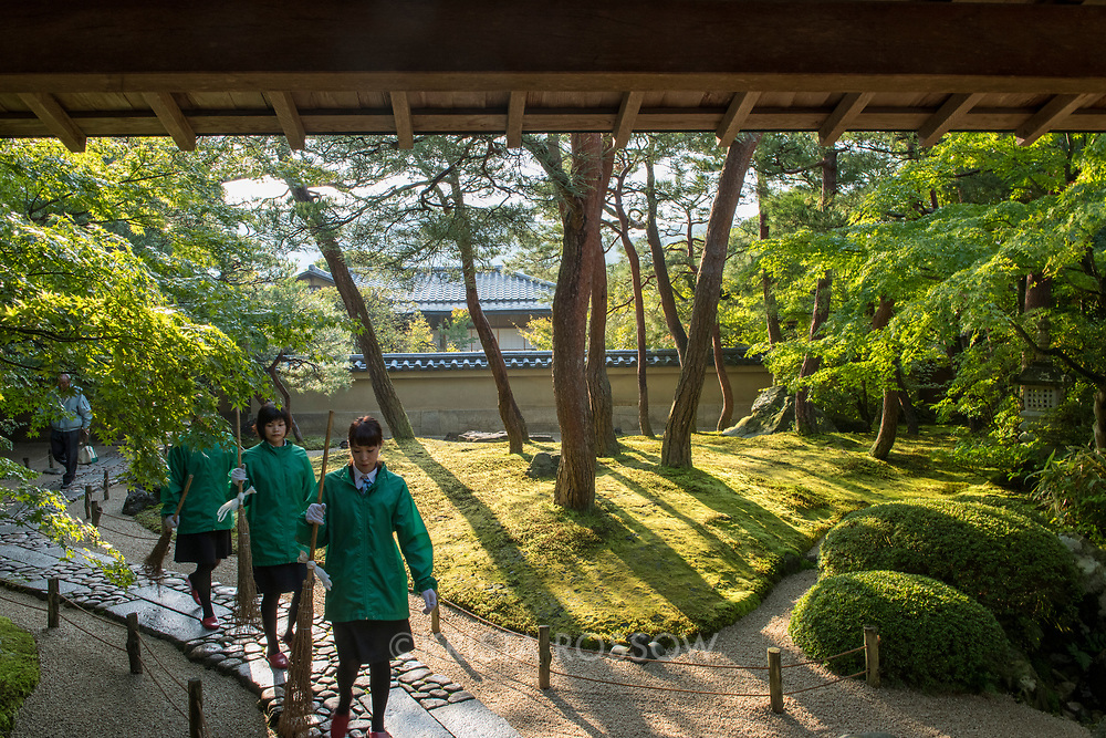 The Adachi Museum of Art in Shimane Prefecture is famous for its beautiful gardens which is considered a living painting that changes with the time of day and the four seasons. The museum is located in Yasugi, Japan.