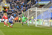 Reading FC midfielder Hal Robson-Kanu scores during the The FA Cup fourth round match between Reading and Walsall at the Madejski Stadium, Reading, England on 30 January 2016. Photo by Mark Davies.
