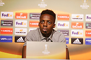 BILBAO, SPANIEN - 2017-11-01: I&ntilde;aki Williams of Athletic Bilbao under en presskonferens inf&ouml;r UEFA Europa League group J matchen mellan Athletic Bilbao och Ostersunds FK p&aring; Lezama Facilities den 1 November, 2017 i Bilbao, Spanien. <br /> Foto: Nils Petter Nilsson/Ombrello<br /> ***BETALBILD***