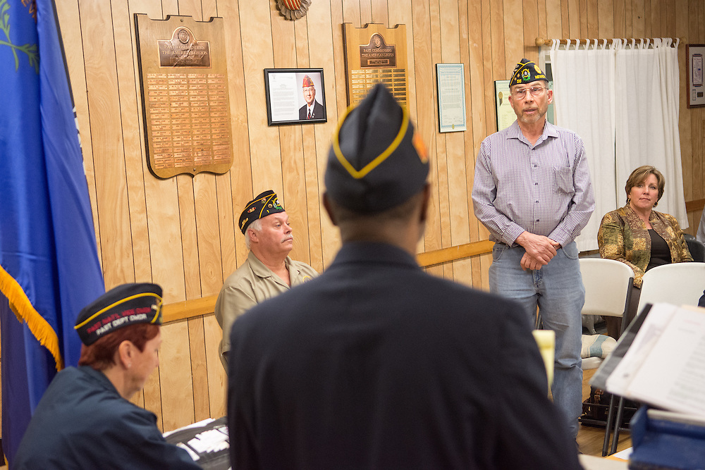 Ben Casad, past commander of American Legion Post 56 in Carson City, Nev., speaks at American Legion Post 1 in Reno, Nev. during a System Worth Saving town hall on Tuesday, March 8, 2016. Photo by David Calvert /The American Legion.