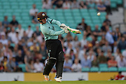 Jason Roy of Surrey batting during the NatWest T20 Blast South Group match between Surrey County Cricket Club and Warwickshire County Cricket Club at the Kia Oval, Kennington, United Kingdom on 25 August 2017. Photo by Dave Vokes.
