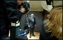 London Mayor Boris Johnson at the In-House magazine shoot during the Mayoral Campaign, London, UK, April 20, 2012. Photo By Andrew Parsons / i-Images.