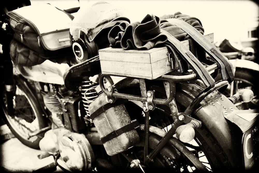 Old dirty British Aerial motorbike