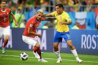 v.l. Valon Behrami (Schweiz), Philippe Coutinho<br /> Rostow am Don, 17.06.2018, FIFA Fussball WM 2018 in Russland, Vorrunde, Brasilien - Schweiz<br /> Brazil - Sveits<br /> Norway only