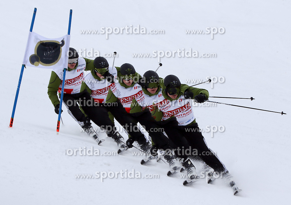 26.01.2015, Planai, Schladming, AUT, FIS Weltcup Ski Alpin, Slalom, Herren, Charity Race SKI FOR GOLD der Oesterreichischen Sporthilfe, im Bild Anton Polster - Stilstudie // at the Charity Race SKI FOR GOLD prior to the Schladming FIS Ski Alpine World Cup 2015 at the Planai course in Schladming, Austria on 2015/01/26. EXPA Pictures © 2015, PhotoCredit: EXPA/ Martin Huber
