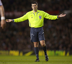 Manchester, England - Tuesday, March 13, 2007: German referee Markus Merk takes charge of Manchester United and Europe XI during the UEFA Celebration Match at Old Trafford. (Pic by David Rawcliffe/Propaganda)