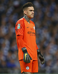 February 24, 2019 - London, England, United Kingdom - Manchester City's Ederson.during during Carabao Cup Final between Chelsea and Manchester City at Wembley stadium , London, England on 24 Feb 2019. (Credit Image: © Action Foto Sport/NurPhoto via ZUMA Press)
