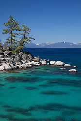 """Boulders at Lake Tahoe 42"" - Photograph of boulders along the East shore of a very blue Lake Tahoe, just north of Sand Harbor."