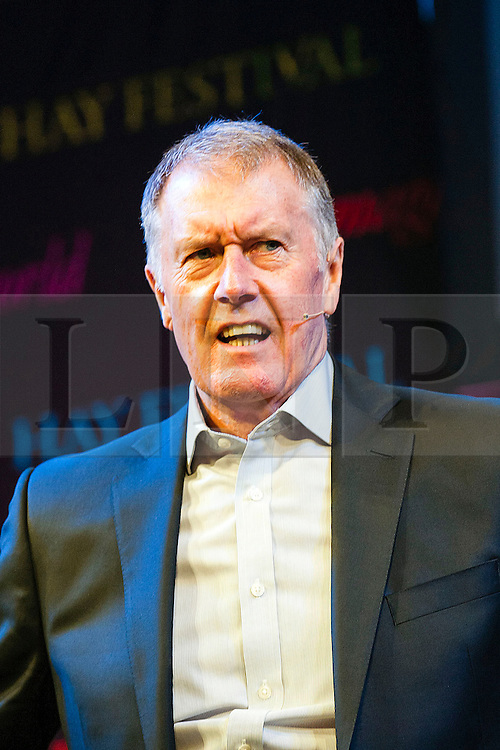 © Licensed to London News Pictures. 28/05/2014. Geoff Hurst featured - Footballer Legends Geoff Hurst, Osvaldo Ardiles, Ricardo Villa and Alan Smith appear at The Hay Festival of Literature and Arts which celebrates its 27th year in Wales. Photo credit : Graham M. Lawrence/LNP