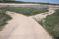 Boat Ramp, The Narrows, Colorado River upstream from Lake Travis.