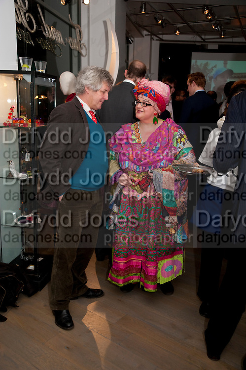 AMES HUGHES-ONSLOW; CAMILLA BATMANGHELIDJ  , The Volunteer, A fundraiser for a school project in Uganda. The Henry Von Straubenzee Memorial Fund, <br /> Few And Far, 242 Brompton Road, London SW3, 11 February 2010.