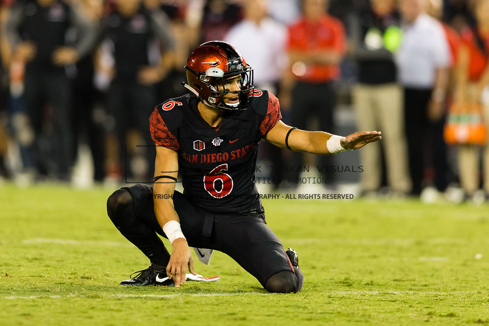 16September 2017:  The Aztecs beat #19 Stanford 20-17 at San Diego Stadium. <br /> www.sdsuaztecphotos.com