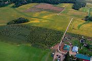 The Schuster Corn Maze near Deerfield, Wisconsin, USA.