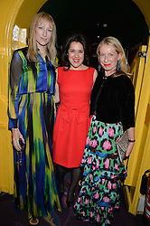 Left to right, JADE PARFITT, EMMA FRANCE and SARAH BAILEY at the mothers2mothers 15 Years of Wonder Women at held at Annabel's, Berekely Square, London on 9th November 2016.