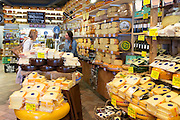 Locals shopping in traditional cheese shop in the Nine Streets, de 9 Straatjes,  shopping district, Amsterdam