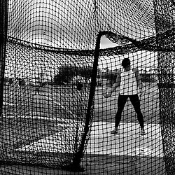 Cal Poly discus athlete Michael Roberts prepares to throw during a track and field meet at Cal State Fullerton in Fullerton, Calif. on Friday May 6, 2017.