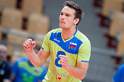 Miha Plot #8 of Slovenia during volleyball match between National Teams of Slovenia and FRY Macedonia of 2014 CEV Volleyball European League Man - Pool B, on July 5, 2014, in Arena Ljudski vrt Lukna, Maribor, Slovenia, Slovenia. Photo by Urban Urbanc / Sportida