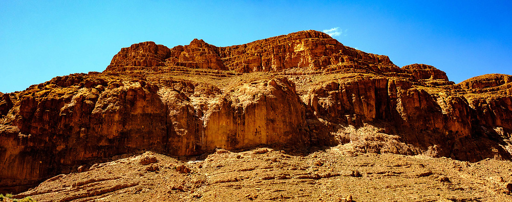 Dramatic rock formation in the Todra Gorge, Morocco<br /> <br /> (c) Andrew Wilson   Edinburgh Elite media
