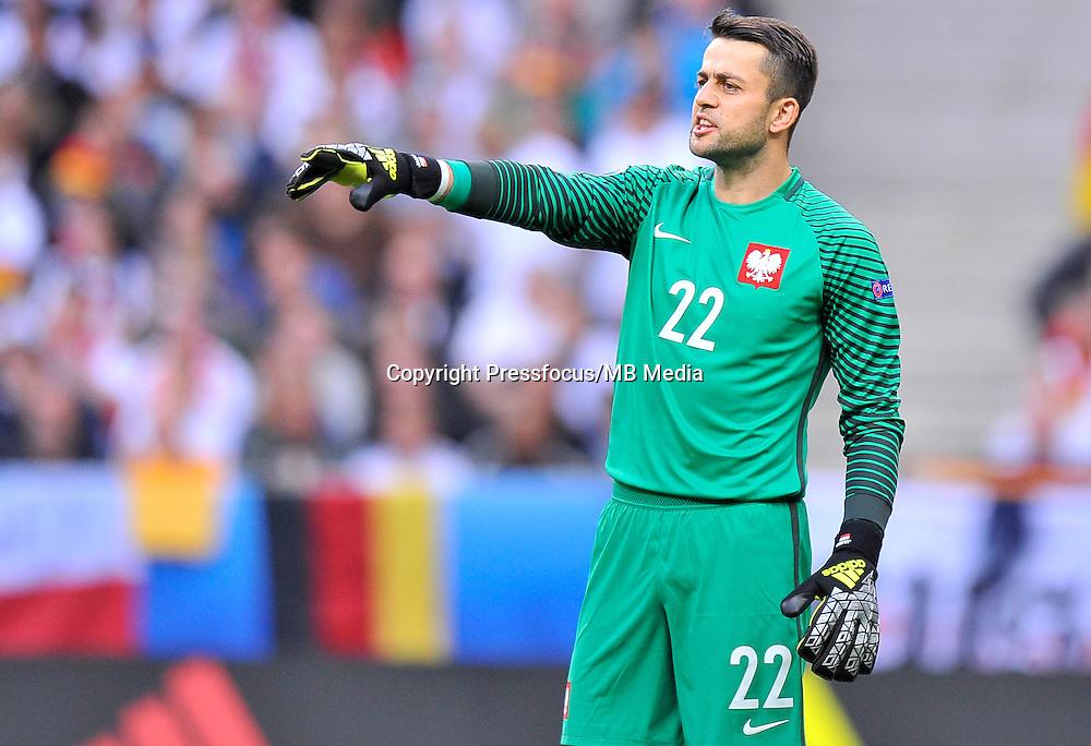 2016.06.16 Saint-Denis<br /> Football UEFA Euro 2016 group C game between Poland and Germany<br /> Lukasz Fabianski<br /> Credit: Norbert Barczyk / PressFocus