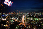 Metropolis Tokyo seen during early evening from Tokyo tower. Tokyo has 13.01 million inhabitans, is the Japanese capital and the largest city in Japan. Tokyo, Japan, 23.10 2010.