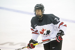 Xavier Bouchard (Baie-Comeau Drakkar) seen representing Team Canada White at the 2016 World Under-17 Challenge in Sault Ste. Marie, Ont. Photo by Kenneth Armstrong for CHL Images