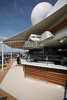 Celebrity Silhouette. Celebrity cruises' new ship launched in Hamburg 21st July 2011..Interior feature photos..Mast Grill.